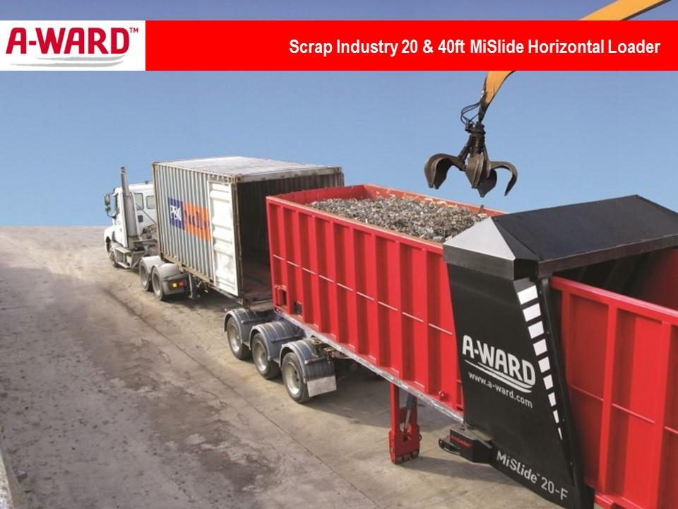 Scrap Industry 20 & 40 Ft MiSlide Horizontal Loader