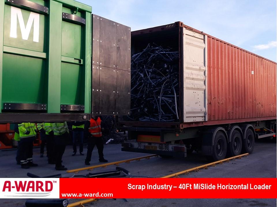 Scrap Industry 40Ft MiSlide Horizontal Loader