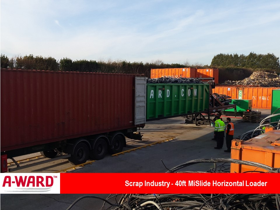 Scrap Industry MiSlide 40Ft Container Horizontal Loader