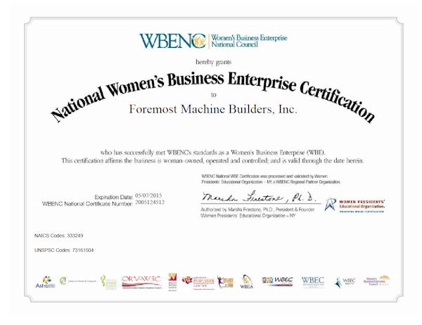 Foremost Women's Business