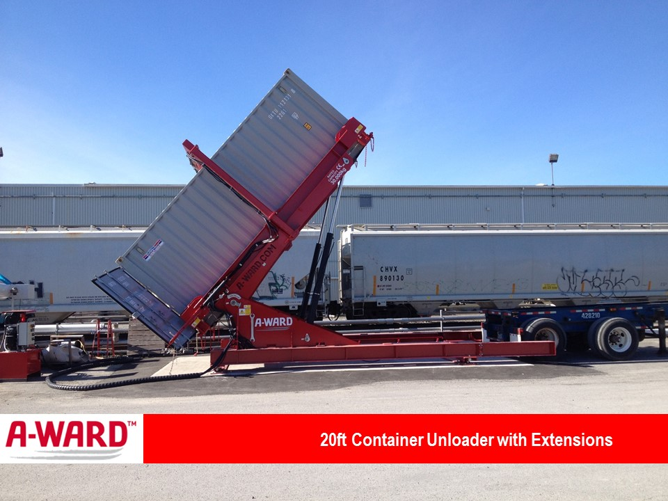 20 40 Ft Tilting Container Loaders Foremost Machine